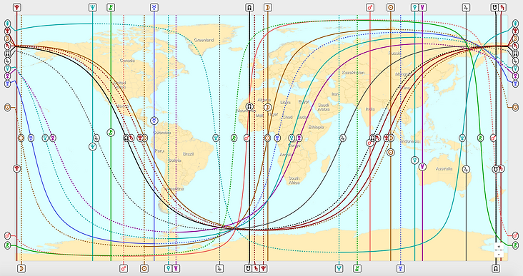 Astrogeographie. Astrologe