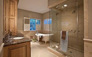 Custom Master Bathroom, Freestanding Soaking Tub, Steam Shower, Carriage House Design, Inc. Tulsa