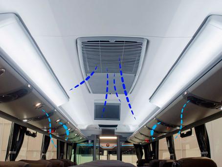 Ônibus usa sistema com luz ultravioleta para desinfecção de ar-condicionado