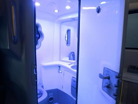 Marcopolo desenvolve sistema de sanitário para ônibus com auto desinfecção por luz ultravioleta