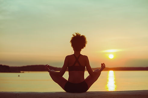 Black Woman Yoga Pose -SS- shutterstock_