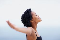 African-American-woman-meditating