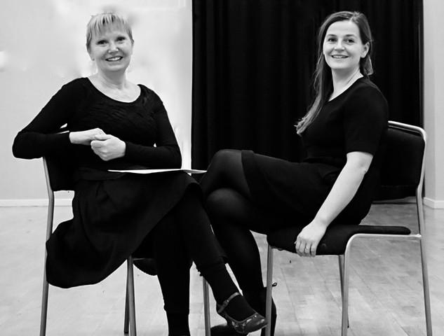 Idun Vik og Anitra Eiriksen. LARSEN vs MUNCH workshop 2018, Foto: Lene Therese Teign