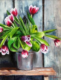 Tulips & Wood