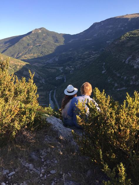 panorama aux falaises de Rémuzat