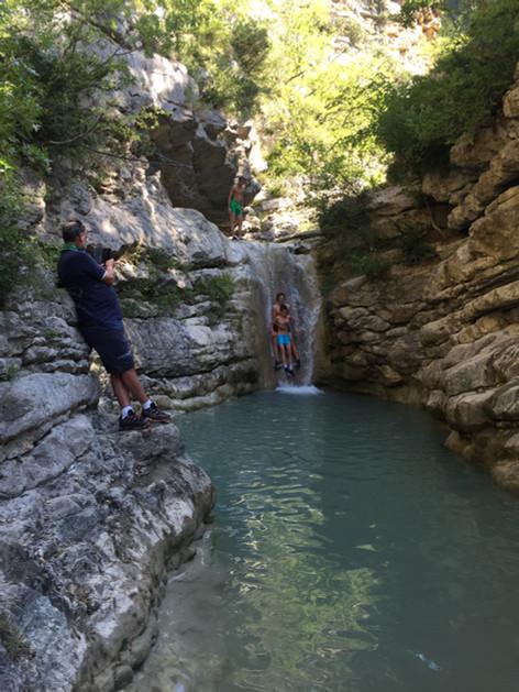 les cascades et gorges du Léoux