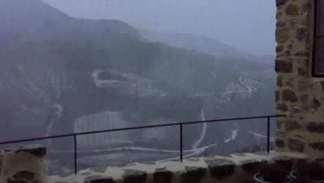orage et tempête de neige pendant 10'