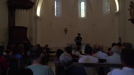 concert dans l'église de Montaulieu