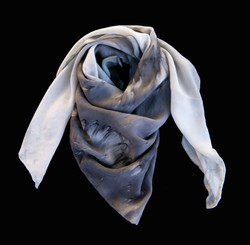Hand coloured crepe silk scarf
