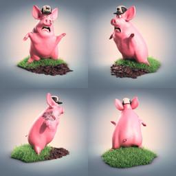 3d Malloa Character