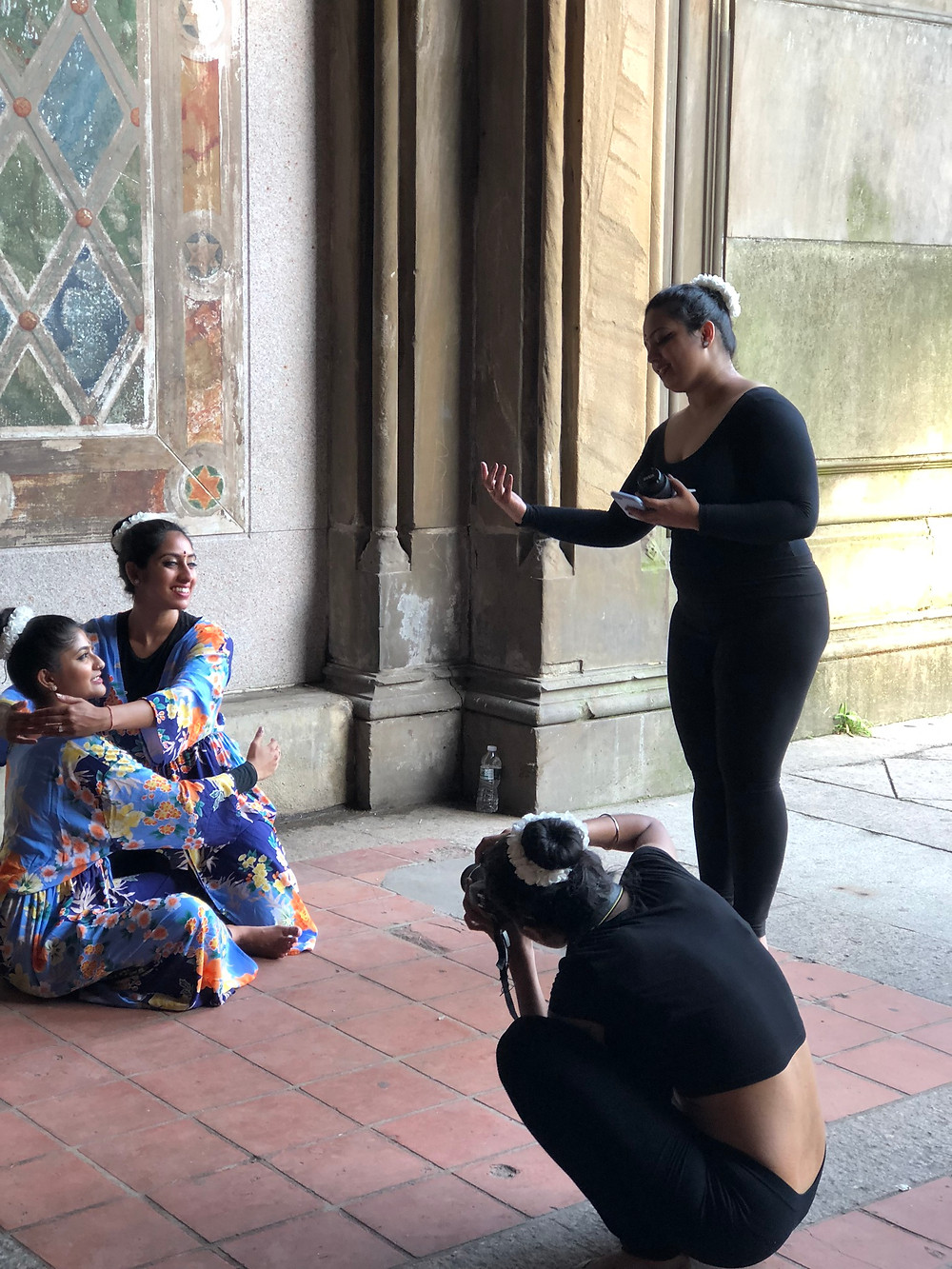 Noor Dance Academy NYC – abhinaya photoshoot bts behind the scenes