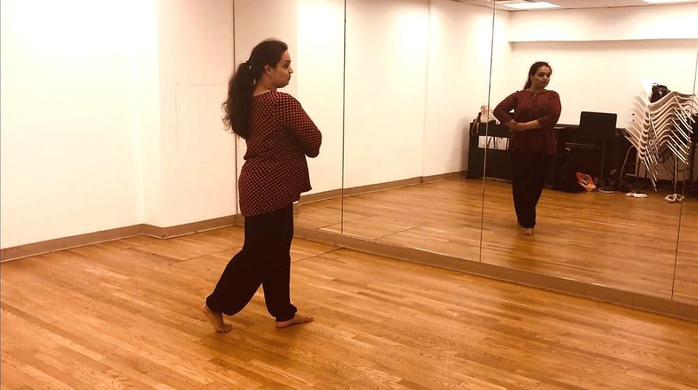 Noor Dance Academy NYC –Shachi practicing in studio