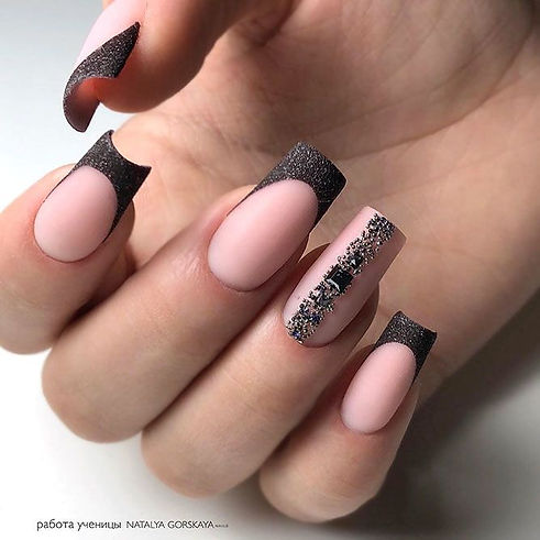 gel-nails-cool-designs-brown-glitter-omb