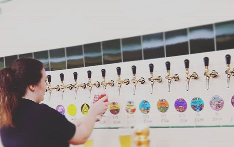 We're OPEN AND the beers pouring! Amazing keg choice from _amundsenbryggeri and _verdantbrew plus _b