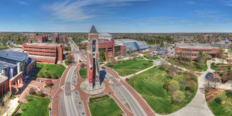 Ball State - Aerial Panorama