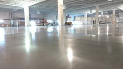Large scale polish concrete