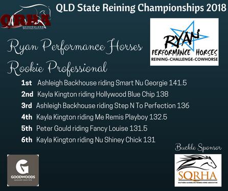 Class 10C Ryan Performance Horses Rookie Professional