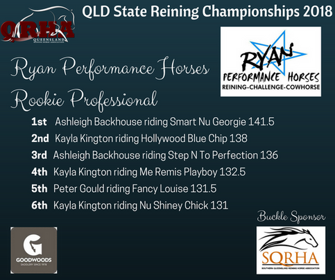 Class 10C Ryan Performance Horses Rookie Professional