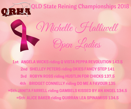 Class 17. Michelle Halliwell Memorial Open Ladies