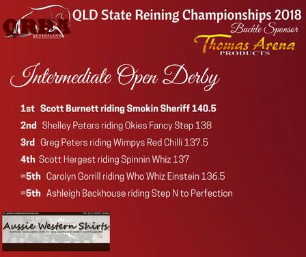 Class 13e. Intermediate Open Derby