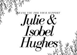 Thankyou to the Hughes Family