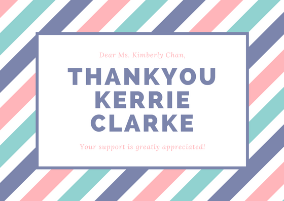 Thankyou to the Kerrie Clarke