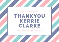 Thankyou to the Kerrie Clarke