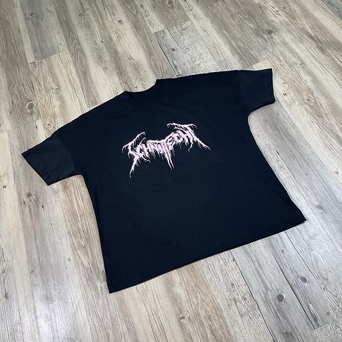 Oversize T-shirt Schnitt-echt X Blackmetal