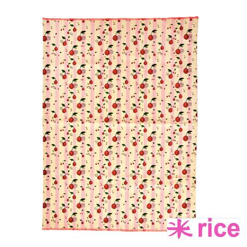 RICE kjøkkenhåndkle cherry  print