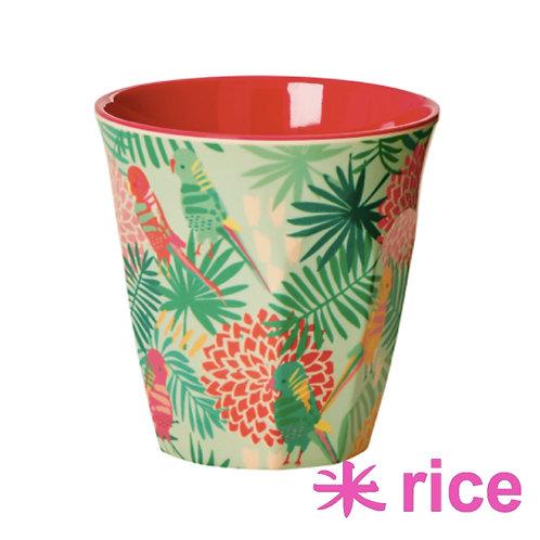 RICE medium melamin kopp - tropical  print