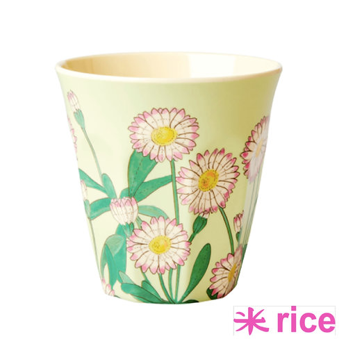 RICE medium melamin kopp - daisy print