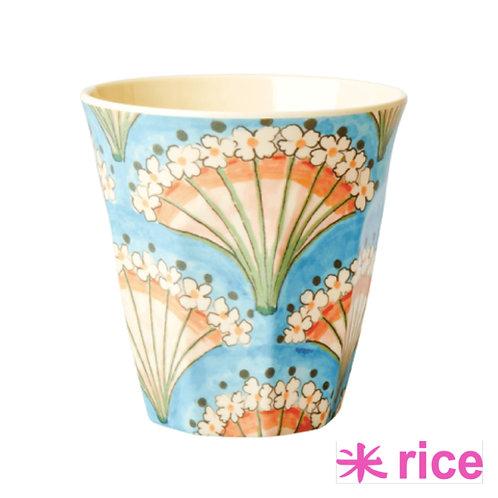 RICE medium melamin kopp - Flower Fan print