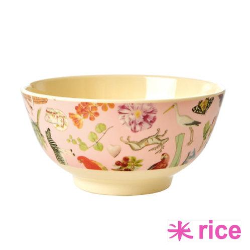 RICE medium melamin skål i rosa art print