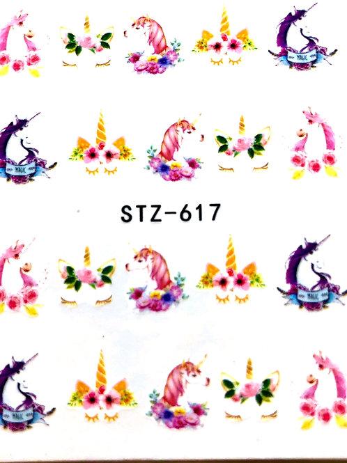 UNICORN nail design stickers