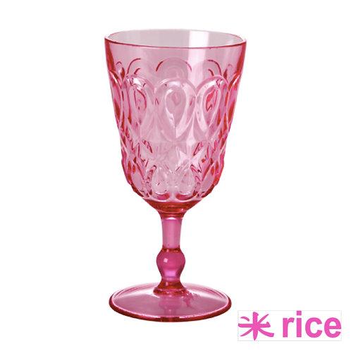 RICE akryl vinglass rosa