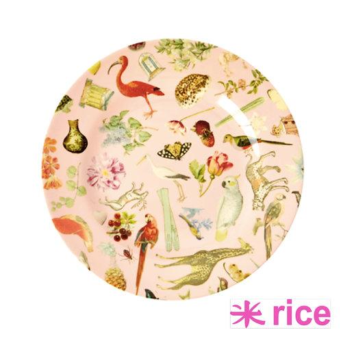 RICE  melamin tallerken rosa art print 20 cm