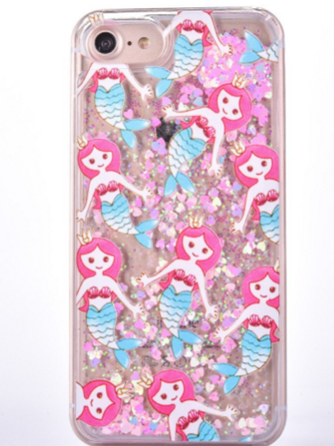 MERMAID mobil deksel med flytende glitter