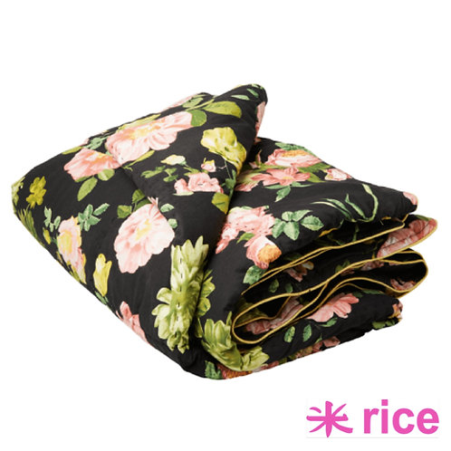 RICE Quilted teppe - black rose