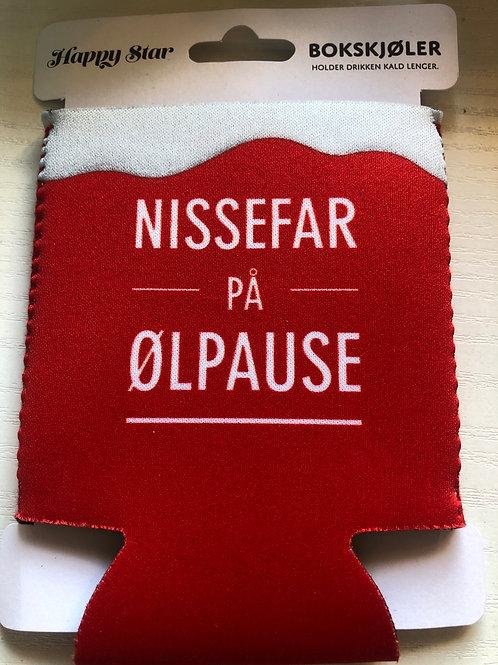 """Happy Star bokskjøler """"Nissefar på ølpause"""""""