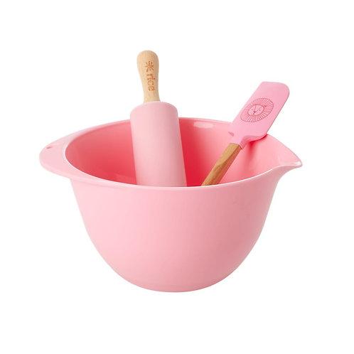 RICE barnas bake sett rosa