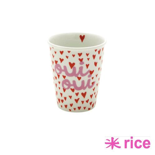 RICE porselens kopp