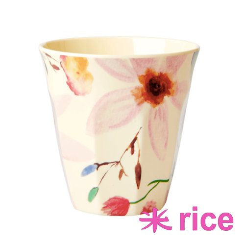 RICE medium melamin kopp - Selmas flowers print