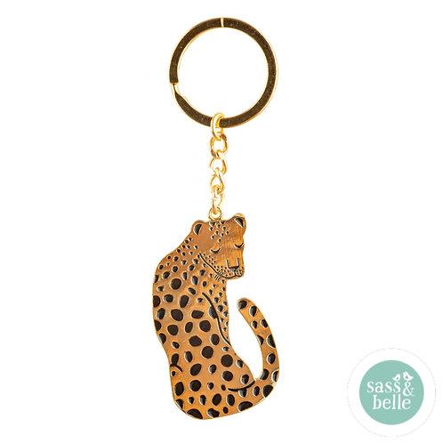 Sass & Belle leopard nøkkelring