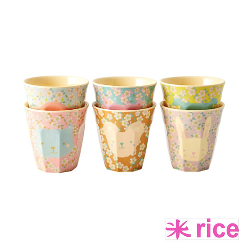RICE melamin liten kopp animal print