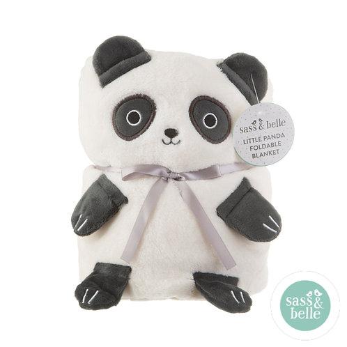 Sass & Belle panda soft fleece teppe