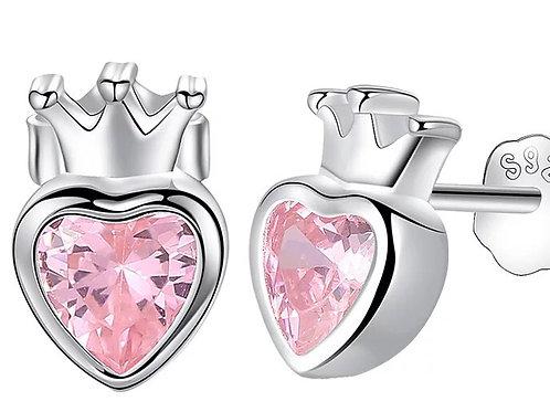 FRIENDS sølv S925 øredobber heart