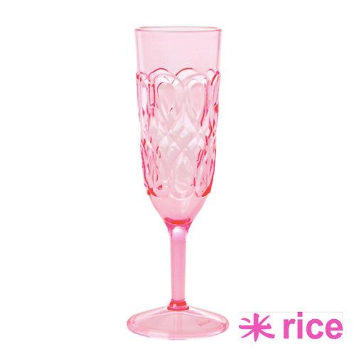 RICE akryl champagneglass rosa