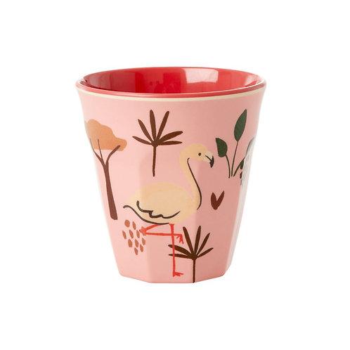 RICE melamin liten kopp Pink Jungle Animal Print