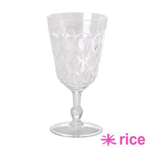 RICE akryl vinglass klar