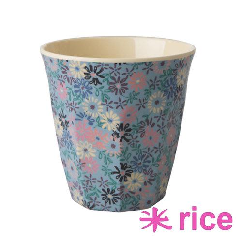 RICE medium melamin kopp - small flowers print